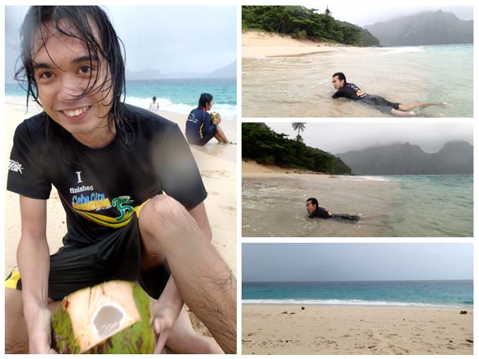 Despite the typhoon starting to manifest, naglingaw-lingaw ang bata. :D